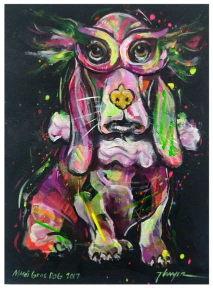 Mardi Gras Dog 1-email for price